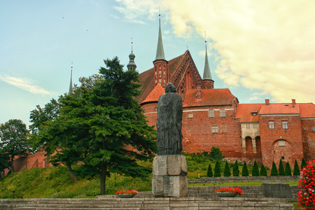 copernicus: Walls behind Frombork Cathedral, place where Nicolaus Copernicus was buried.
