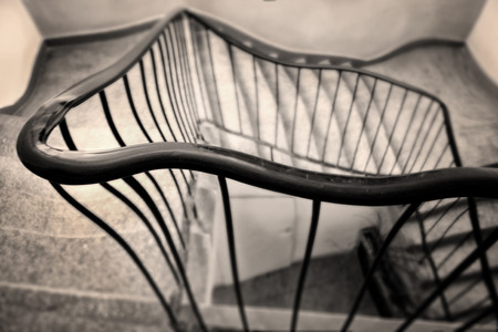 delirium: Going home after party. Troubles inside of the staircase.
