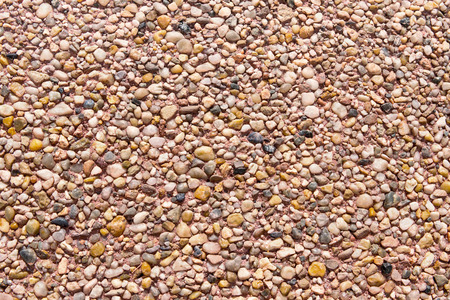 gravelly: Many stones texture 1. Different types of stones. Stock Photo