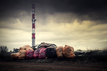 ecological problem: Environmental pollution. Litter dirty air industry cause ecological problem.