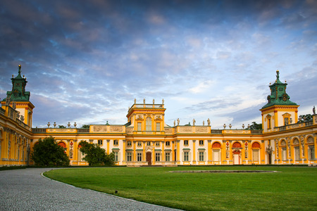 sobieski: Warsaw, Poland - May 17 2009: Front view of Wilanow Royal Palace. The palace was built in the years 1681-1696 for King Jan III Sobieski.