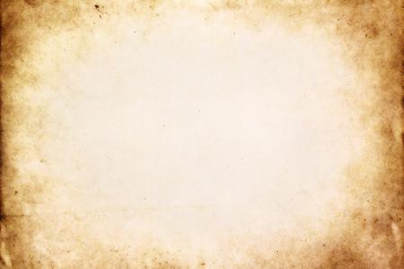 vintage: Vieux brun texture du papier avec vignette Banque d'images