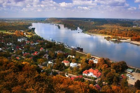 kazimierz: Autumn scenery of Kazimierz Dolny at Vistula river in Poland.