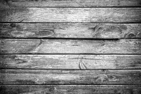 black pattern: Rusty wooden  planks texture. Horizontal frame. Stock Photo