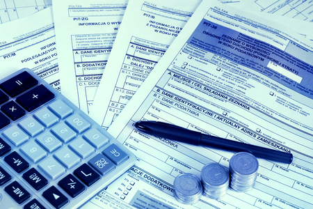 individuals: Polish tax form PIT-36 with other attachments for personal income tax purpose for Individuals engaged in business.