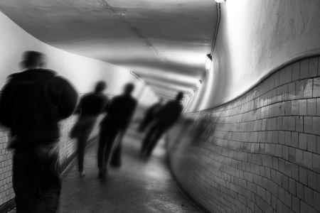 inebriated: Hallucinations, delirium in EKW tunnel. Stock Photo