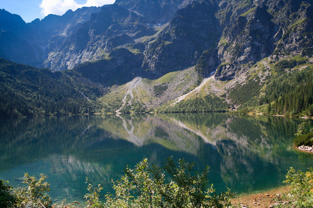 morskie: Mountain lake Morskie Oko, Tatra Mountains, Poland