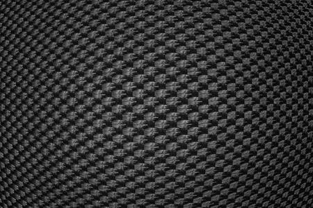 synthetic fiber: Black convex texture of synthetic fiber. Stock Photo
