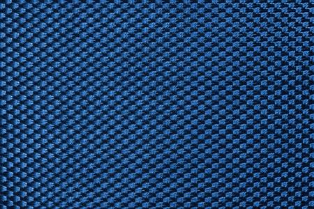 synthetic fiber: Blue symmetrical texture of synthetic fiber. Stock Photo