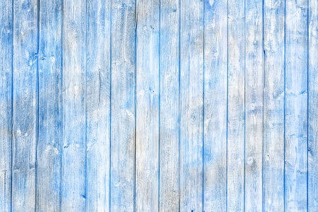 Blue-white painted planks. Texture of wood.