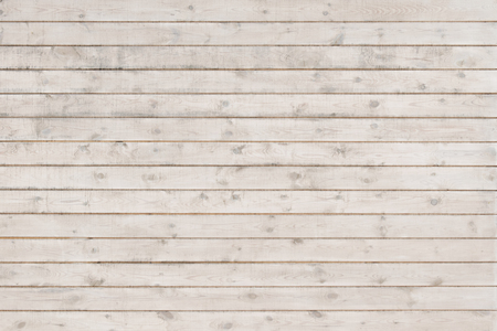 White painted  long planks. Texture of wood.