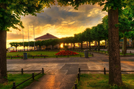 View of the SPA Square and entrance to the Sopot jetty. Pomerania, Poland.
