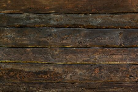 Old knaggy planks. Texture of wood. Imagens
