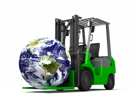 Forklift to carry the Earth
