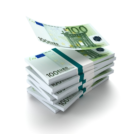 banconote euro: Wallet of euro banknotes