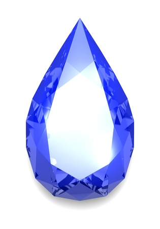 Tear shaped diamond
