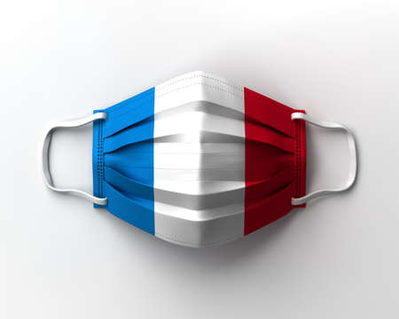 Mask of the French flag 写真素材