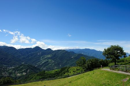 Taiwan Famous Landscape :Hehuan Mountain in taroko national park Stock Photo