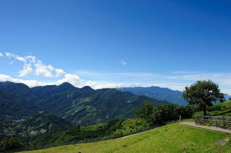Taiwan Famous Landscape :Hehuan Mountain in taroko national park Stock Photo