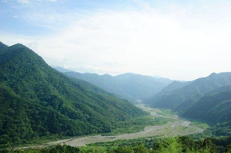 Paysage c�l�bre de Ta�wan : Hehuan de montagne dans le parc national taroko Banque d'images