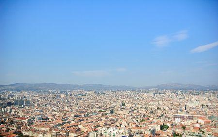 La vue de Marseille Banque d'images