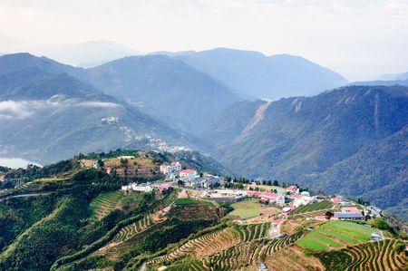 un village de montagne c�l�bre � Ta�wan Banque d'images