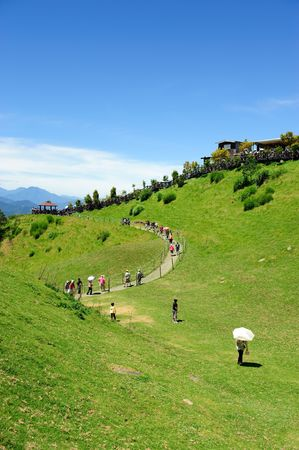 Taiwan famous scenic spot in high mountaion