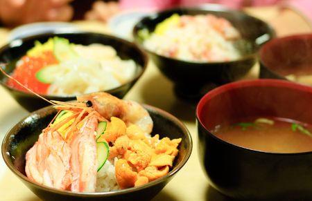 Repas de fruits de mer japonais