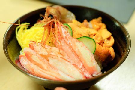 Japanese seafood meal