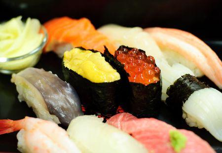 Il est c�l�bre sushi � Otaru au Japon