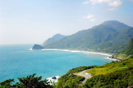 It is beautiful seacoast in east Taiwan