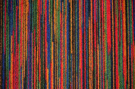 colorful rug with vertical line