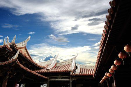 temple traditionnelle chinoise toit Banque d'images
