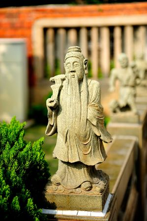 statue de Pierre chinois de buddha