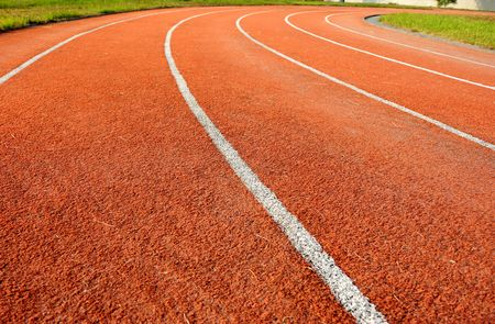 Running tracks in a school  Stock Photo