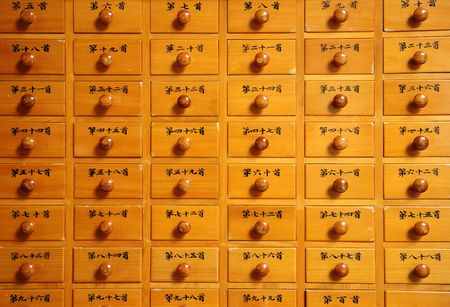 cabient dans le temple chinois