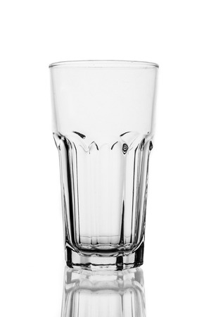 Water glass in isolated background. photo