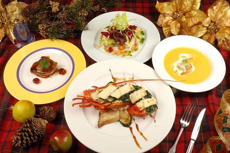 christmas meal: christmas Meal Stock Photo