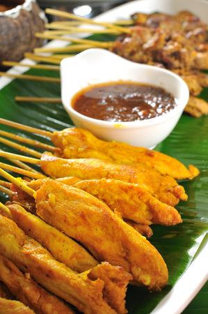 chicken satay: thai cuisine, Chicken Satay, Beef Satay.