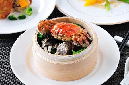 hairy: Crab dish. Crabs cuisine.