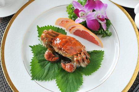 crab: Crab dish. Crabs cuisine.