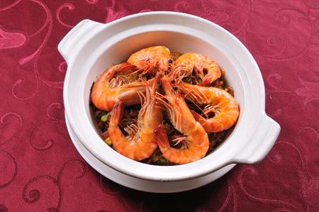 Shrimps cuisine Stockfoto