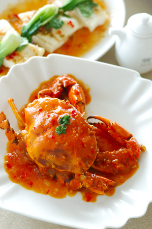 China delicious food .thai delicious food .asia cuisine Fried Shell Crab with garlic and pepper