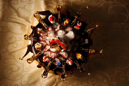 The merry Christmas chocolate cake.