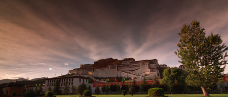 Rays of the Potala Palace at sunset Editorial