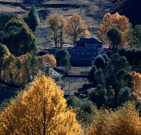 Sichuan Yajiang rural scenery Editorial