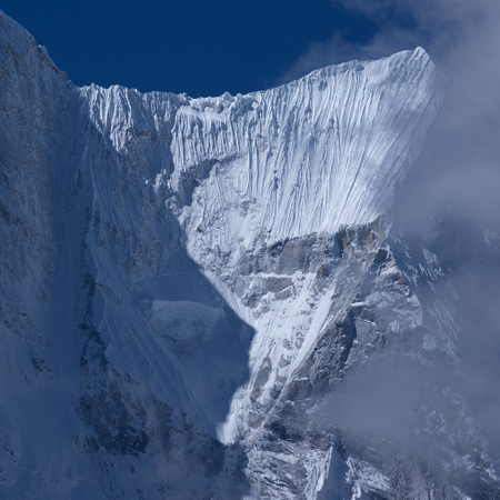 The landscape of the Everest 's Eastern face