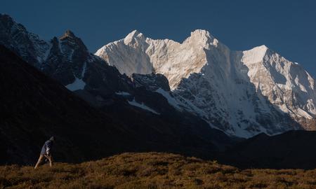 The landscape of the east slope of Mount Everest