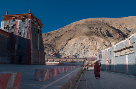 streetscape in Lhasa Tibet, China