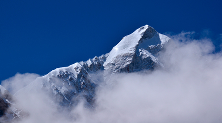 Everest 's Eastern face scenery 스톡 콘텐츠